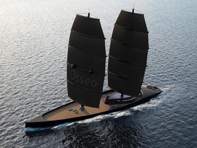 Osseo Sailing Yacht wood osseo sea creature modern ocean sailing sea yacht
