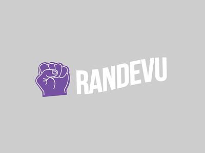 Randevu minimal branding flat icon illustration logo