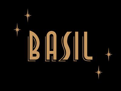 Basil Wordmark lettering irene geller 40s word art logo retro basil wordmark
