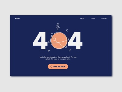 Daily UI 6 – 404 Page
