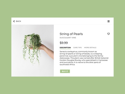 Daily UI 12 – Single Product