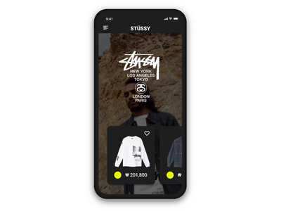 E-Commerce Shop 012/100 stussy fashion ecommerce app framer figma dailyui design ui
