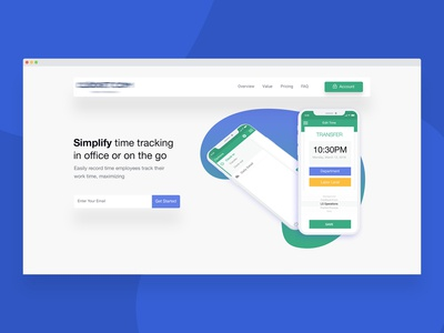 Landing Page Design for a Time Management Software