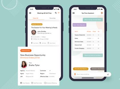 Meeting App UI Design With Google Assistant Integration