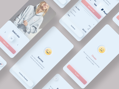 dailyui #11 neomorphism flash message checkout ecommerce app design bright app typogaphy ux  ui clean challenge dailyui