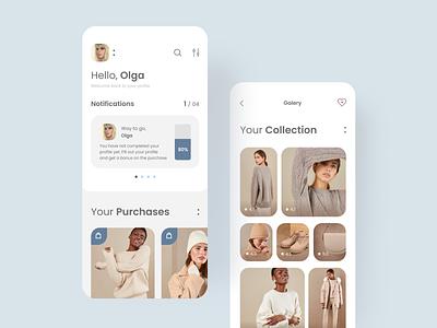 Dailyui #6 challenge ux  ui typogaphy clean app concept dailyui brand fashion app ecommerce profile