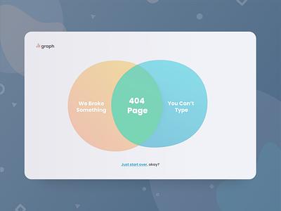 Dailyui #8 venndiagram diagram 404 error page 404page 404 beautiful font design bright app ux  ui typogaphy clean app concept dailyui challenge