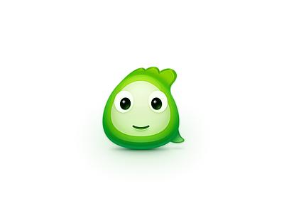 Comma logo icon zuui china green comma cartoon eye