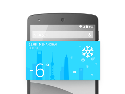 Weather Widget weather widget moji snow sun china blue ui zuui