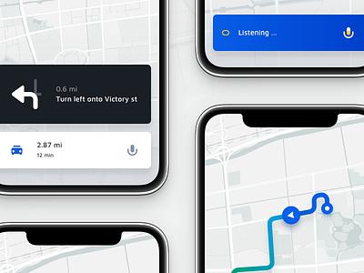 Map UI Kit route navigation app ios ui8 uikits map uikit