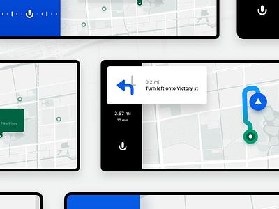 Map UI Kit ui8 uid uikits uikit navigation route map auto car
