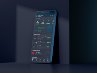 Neuomorphic Dark Theme betting dark theme mobile neumorphic