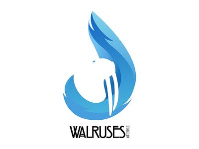 Walruses Logo 2017 waterpolo restyling logo walruses