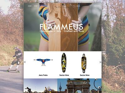 Flammeus longboard product page skateboard uiux website longboard