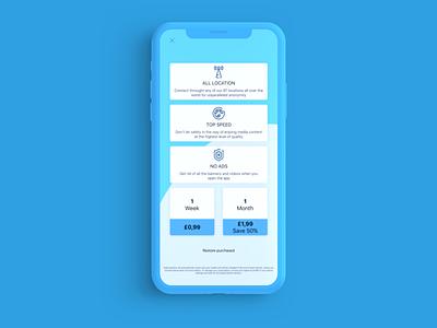 Safe Fi VPN app paywall concept ui vpn