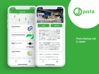 Justa mobile app concept