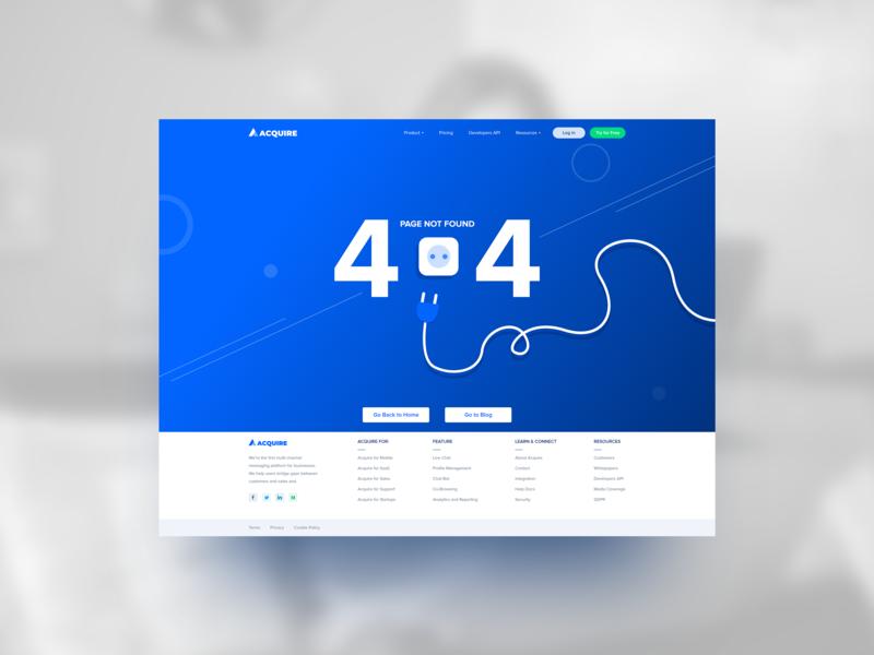 Acquire Error 404 Page Concepts design acquire.io illustration error page 404 error 404