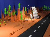 """3D Render for Acquire Blog """"customer-service-books"""""""