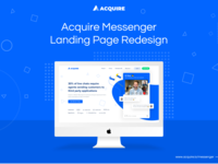 Acquire Messenger Landing Page Redesign