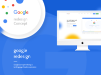 Google Redesign Concept & Header Exploration