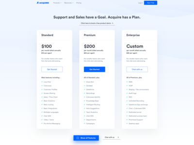 Glimpse from New Pricing Page