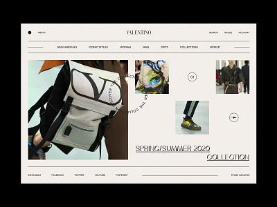 Valentino commerce e-commerce shop online shop online store uidesign concept clean minimalism typography interaction app website landing page ux design minimal ui web fashion