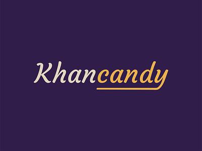 Khancandy logo bakery logo sweet logo brand identity script lettering bakery brand icon illustration branding minimal design baku azerbaijan symbol logotype typography sweet candy logo