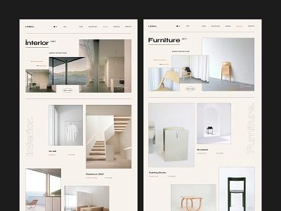 Leibal - Minimal design blog furniture store brand identity menu modern simple clean minimalism architecture interior furniture interaction baku azerbaijan app website minimal web ux ui design