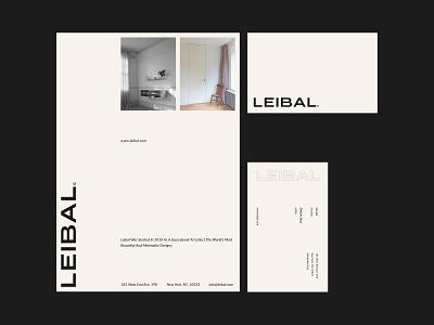 Leibal - Identity letter brand guidline visit card business card print identity branding blog architect architecture interior furniture minimal icon typography illustration branding logo brand identity identity design
