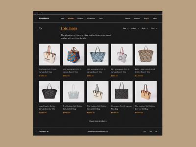 Burberry clothes mobile dribbble behance web design brand fashion interaction app website minimal web ux ui design men women e-commerce shop store