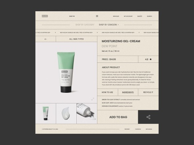 Versed Skincare - Interaction typography minimalism product page e-commerce store shopping women skincare skin cosmetic landing page interaction shop app website minimal web ui ux design