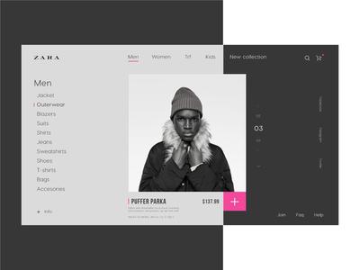 Zara-  Sale page UI