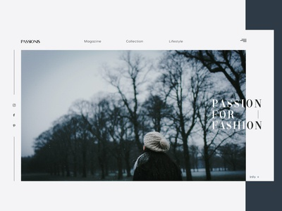 Passionis Fashion UI page design