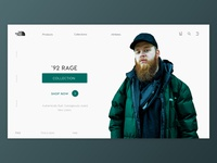 The North Face - Home page UI