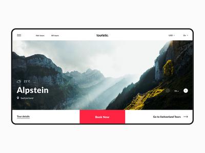 Touristic - Website concept