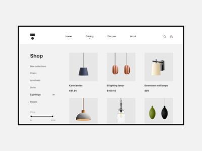 E-commerce page - Decorr