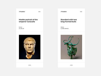 Museo app baku azerbaijan minimalist minimalism photo fashion minimal website typography creative design ux ui concept gallery application app web art museum