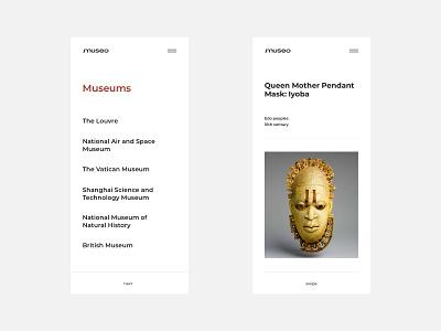 Museo app minimalist minimalism application app web design website simple fashion gallery art museum typography creative minimal baku azerbaijan design web ux ui