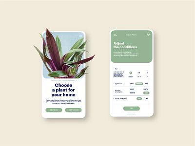 Plant App Concept minimal app icon ux design ui