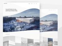 Architecture landing page concept