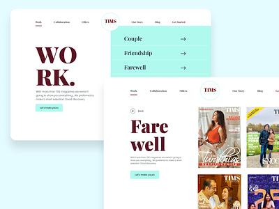 TIMS Magazines | Work Page typogaphy website design ux ui web design magazine cover magazine concept work portfolio