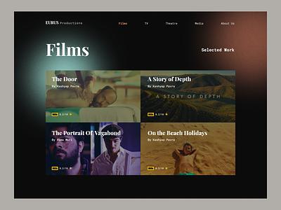Production House | Website gradient movie production house production productions theatre tv flims ui website design