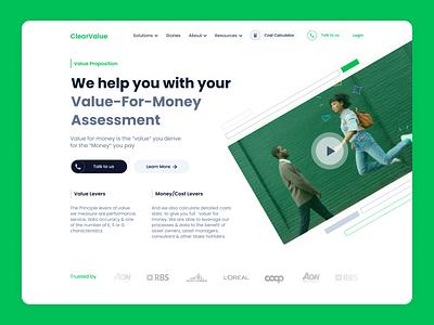 Fintech | Landing Page money financial fintech hero sections landing page landing mature corporate concept fintech branding website design web ui
