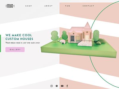 Landing page concept cinema4d artwork ux ui 3d design 3d art illustration