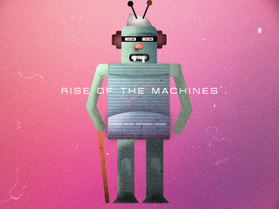 Rise of the Machines vector illustration artwork tech robots