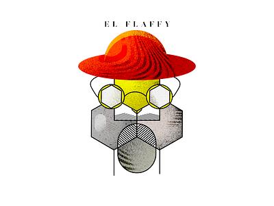 El Flaffy logo vector artwork illustration