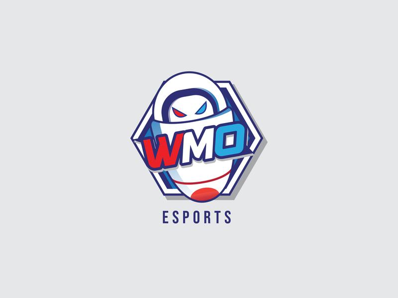 WMO Esport  Logo design typography branding vector logo indonesia graphic illustration