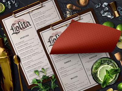 Lolita Cocina & Tequila Bar Lunch Menu design cocktail creative agency menu design restaurant branding logo branding