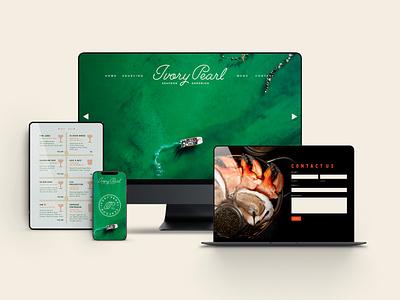 Ivory Pearl Branding menu design logotype logo restaurant branding creative agency branding