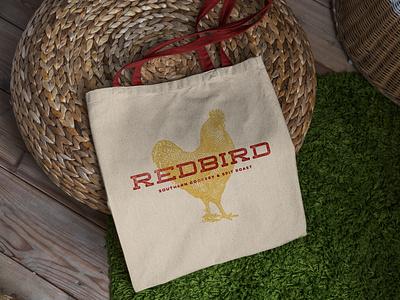 Redbird Tote Design vector illustration menu design design logotype logo restaurant branding creative agency branding